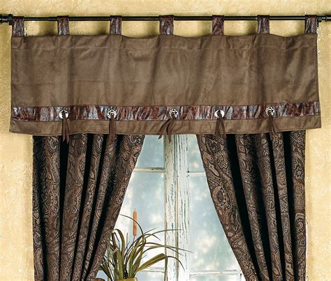 western curtains and valances western paisley beaumont valance