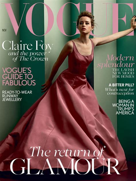 Vogue Magazine Sweepstakes - claire foy covers the november issue of british vogue magazine tom lorenzo
