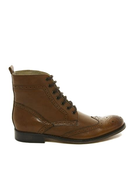 leather sole boots asos leather sole brogue boots mens gladiator sandals