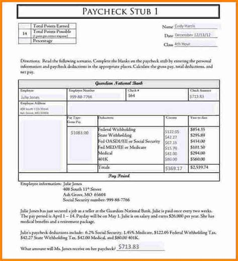 payroll stub template resumess franklinfire co
