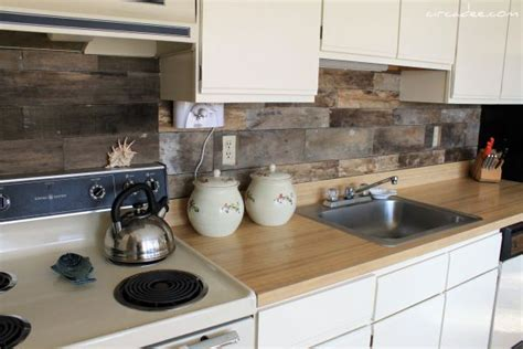 wood backsplash ideas top 20 diy kitchen backsplash ideas