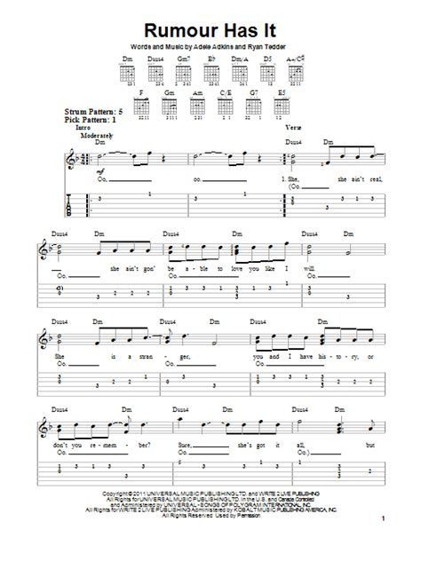adele rumour has it download rumour has it by adele easy guitar tab guitar instructor