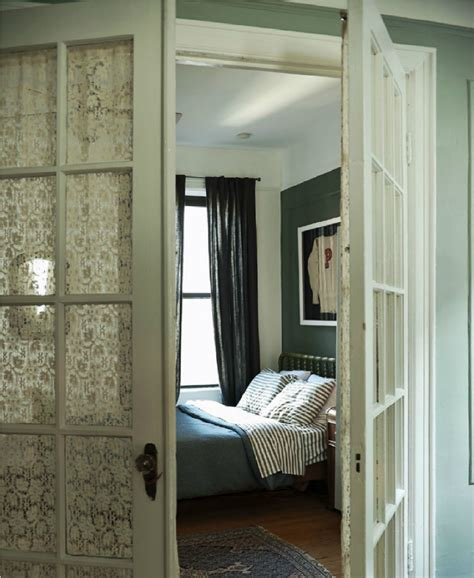 bedroom french doors an east village apartment by the novogratz a home with a