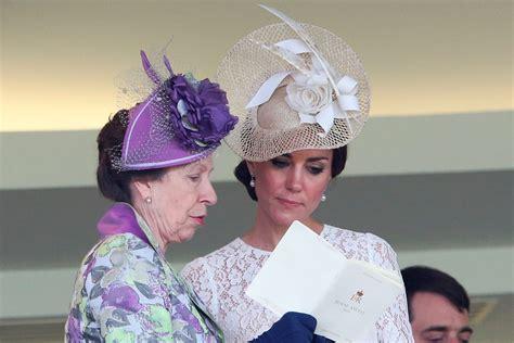 Princess Royal kate middleton giving princess side eye at ascot is