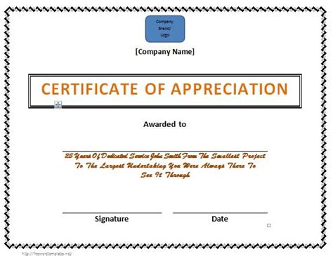 community service hours certificate template 30 free certificate of appreciation templates and letters