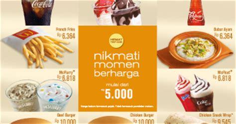Paket Hemat Jam Dan Sandal Bunga menu paket hemat mcd indonesia daftar harga menu delivery terbaru