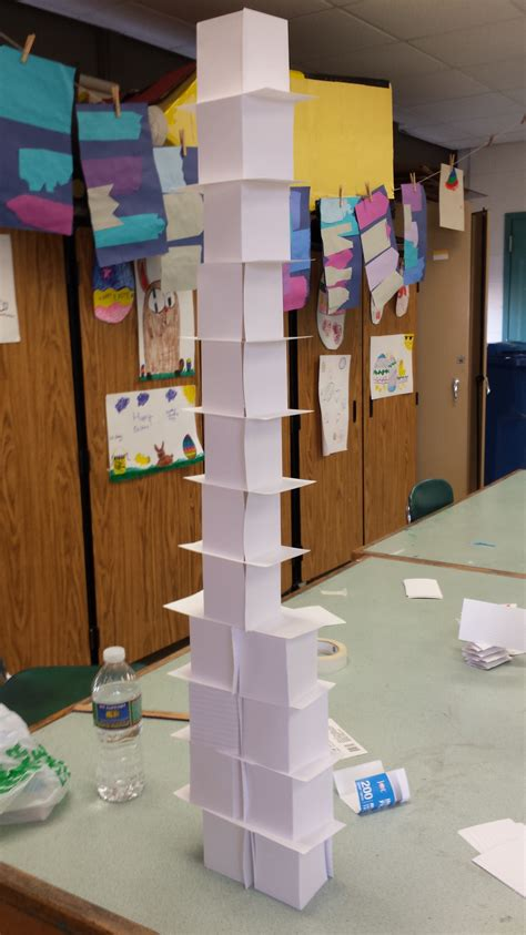 How To Make A Tower With One Of Paper - building index card tower challenge ready set nolza
