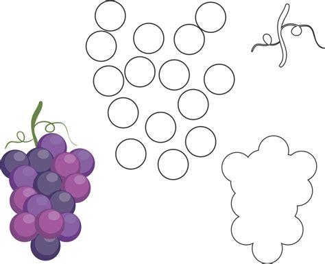 imagenes de uvas en foami molde de uva para feltro eva e artesanatos1