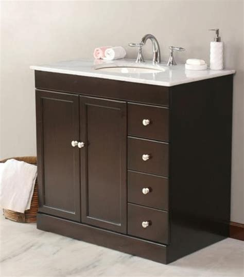 Vanity Sinks For Bathrooms by Virtu Usa 36 Quot Modena Espresso White Marble Single Sink