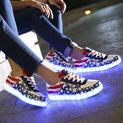 light up tennis shoes for adults amazon com helen s pinkmartini 7 colors light and