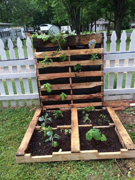 How To Make Your First Pallet Garden 1001 Pallets Pallet Vegetable Garden