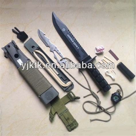 multi purpose survival knife multi purpose survival cing knife kit set with plastic