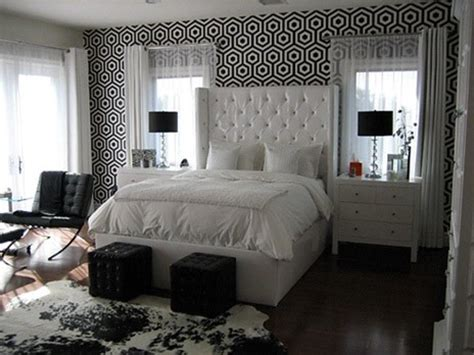 black and white wallpaper bedroom black and white bedroom contemporary bedroom walnut