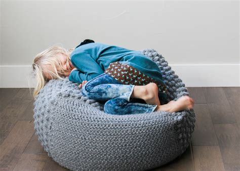 crochet pattern for bean bag free crochet pouf pattern modern textured economical