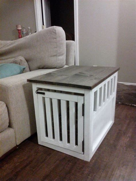 diy dog crate table top side table dog crate