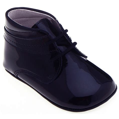 navy baby shoes baby boys navy patent pram shoes in 100 leather cachet