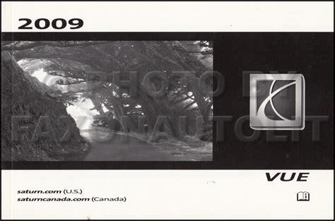 car repair manual download 2009 saturn vue engine control 2009 saturn vue owner s manual original