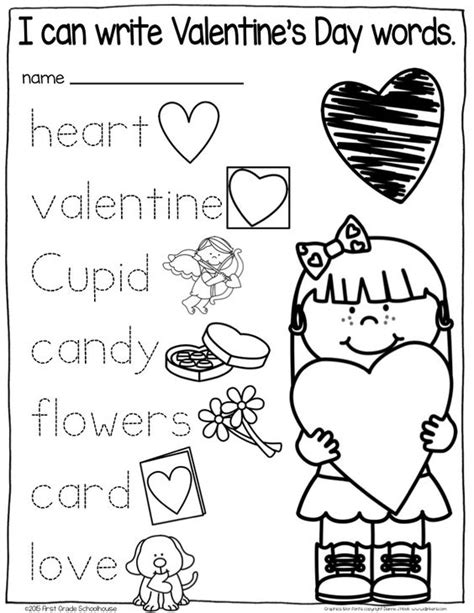 kindergarten activities valentines valentine writing activities first graders 1st grade