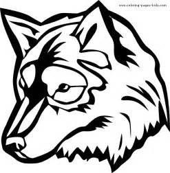 Wolf Coloring Page 07gif sketch template