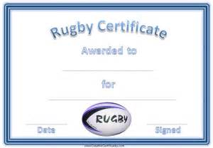 rugby league certificate templates rugby award certificate