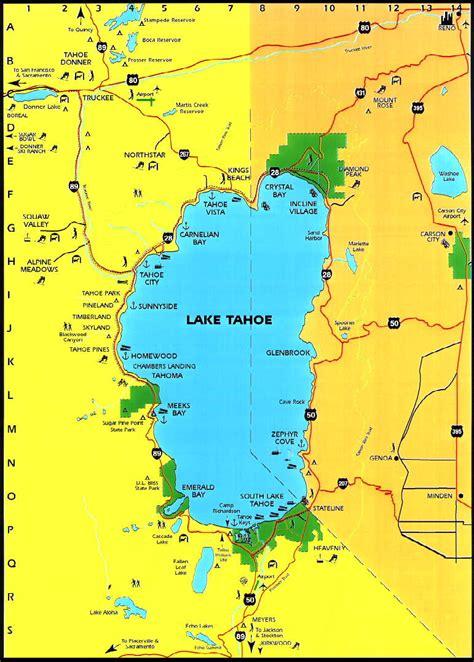 lake tahoe map lake tahoe area maps detailed lake tahoe area map by region