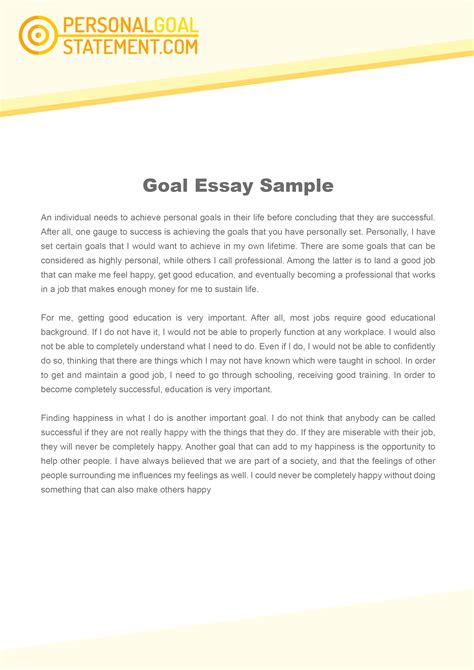 My Goals In Essay by My Goal Essay Services To Win You A Place With Ease Personal Goal Statement