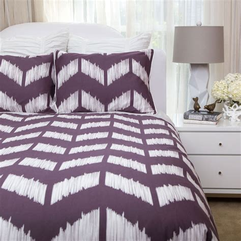 crane and company bedding the addison purple duvet set contemporary bedroom