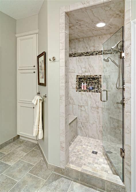 Bathroom Shower Tub Tile Ideas Spacious Fully Tiled Walk In Shower Bathroom