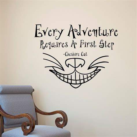 tattoo cat quotes alice in wonderland wall decal quote every adventure