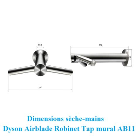 dyson s 232 che mains robinet tap ab11 mural inox bross 233
