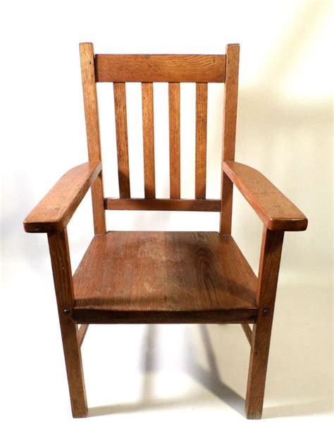 mission style arm chair plans antique mission arts crafts style oak wood children s