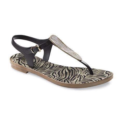 zebra print sandals route 66 s zebra print flat sandal clothing