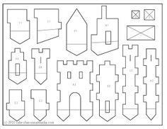 gingerbread castle template gingerbread house template printable cerca con