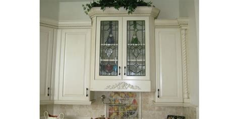 Glass In Kitchen Cabinet Doors The Beveled Edge Cabinet Doors