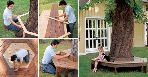 bench around the tree how to make bench around the tree diy crafts handimania