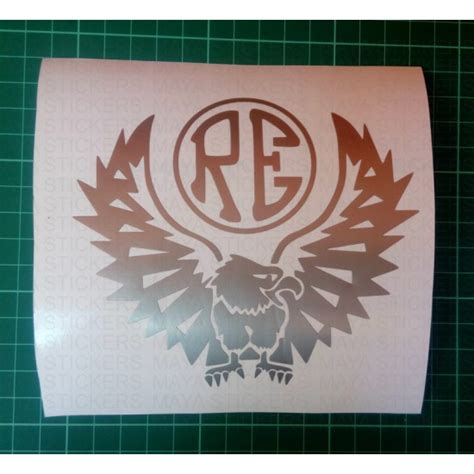 Stiker Re custom eagle vinyl decal sticker for royal enfield