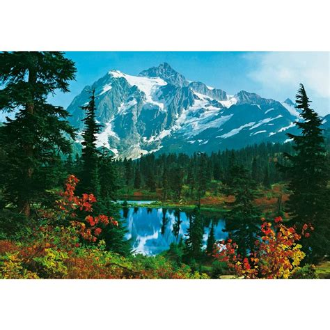 ideal decor wall murals ideal decor 100 in x 144 in mountain morning wall mural