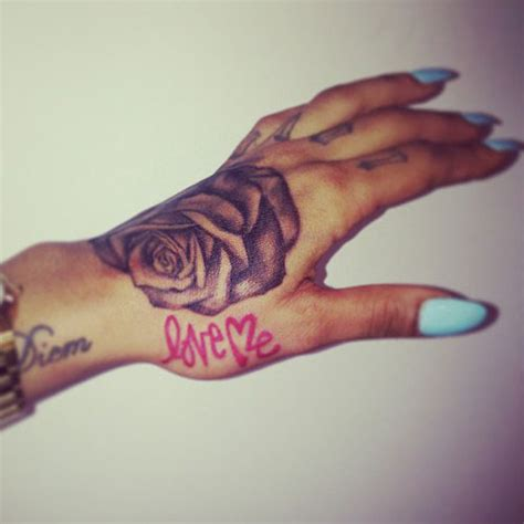 tattoo love on hand karis anderson s 17 tattoos meanings steal her style