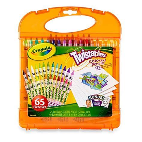 crayola bathroom decor crayola 174 twistables colored pencils kit bed bath beyond
