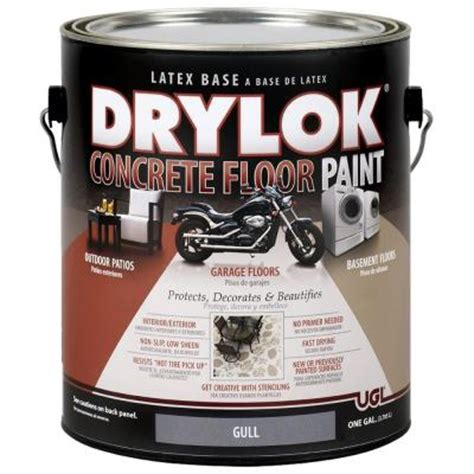ugl 1 gal gull concrete floor paint 209154 the home depot