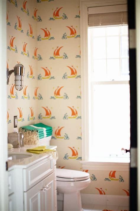 Child S Bathroom Wallpaper Patterns Pinterest