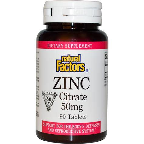 Herbal Zinc Factors Zinc Citrate 50 Mg 90 Tablets Iherb