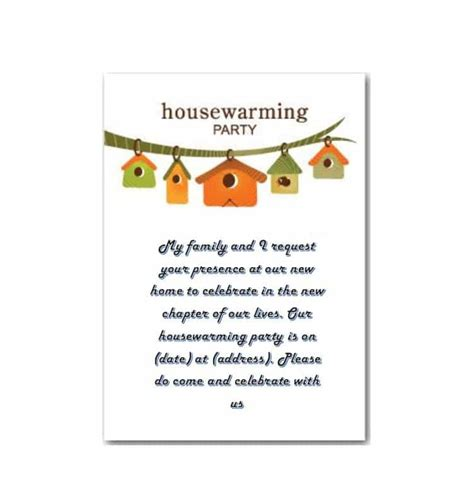 housewarming invitation card template 40 free printable housewarming invitation templates