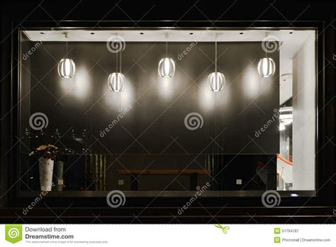 led lights for store windows empty shop window decorated with led droplight stock