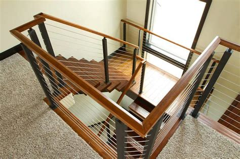 Stair Supplies Project 60 Cable Railing With Wood Handrail