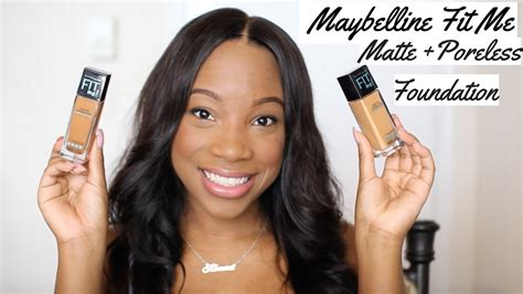 Maybelline Fit Me Poreless maybelline fit me matte poreless foundation demo review