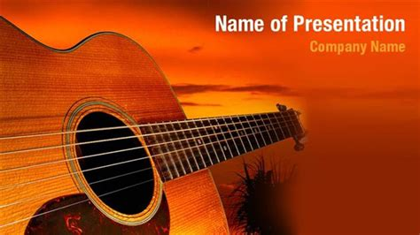 Acoustic Jazz Guitar Powerpoint Templates Acoustic Jazz Guitar Powerpoint Backgrounds Guitar Powerpoint Template