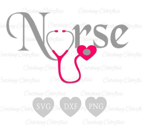 Nursing Heart SVG Cut Files, Nurse Stethoscope Heart Svg