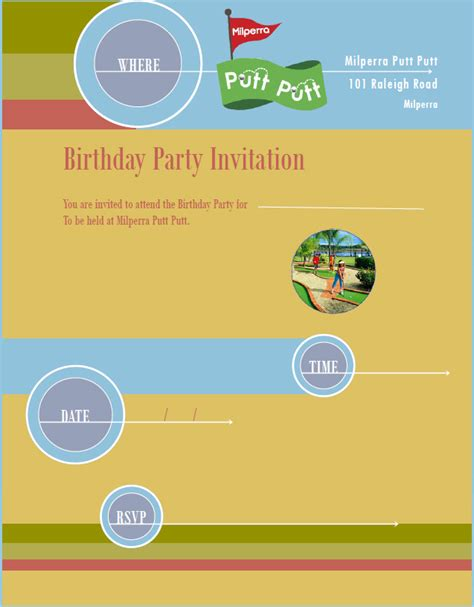 9 Birthday Party Invitation Templates Free Word Designs Pdf Invitation Templates