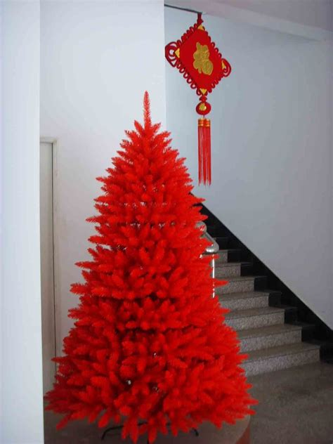 chinese red common christmas tree china commen xmas tree